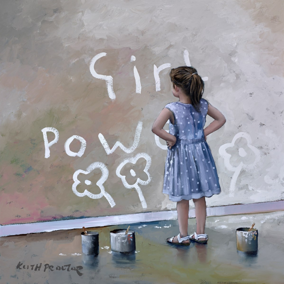 Girl Power V by keith proctor -  sized 24x24 inches. Available from Whitewall Galleries